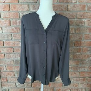 Banana Republic Gray Button Down Dress Shirt Sz SP